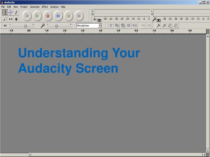Understanding Your Audacity Screen