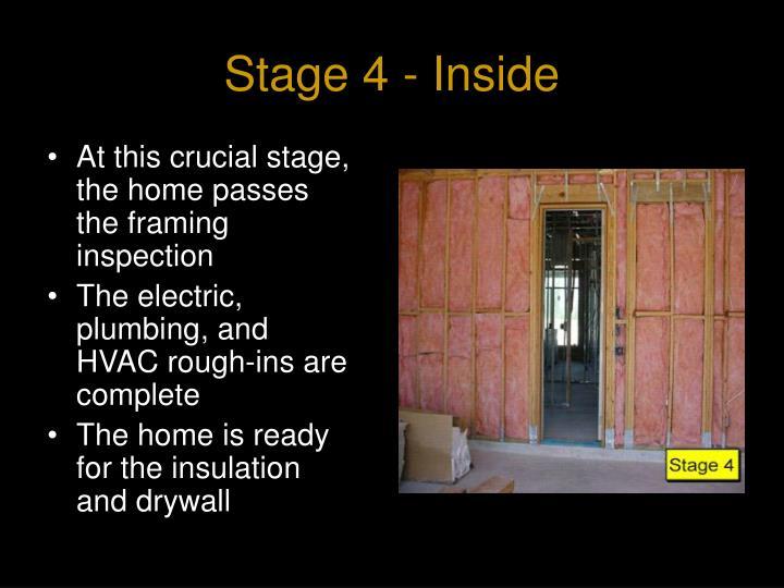 Stage 4 - Inside