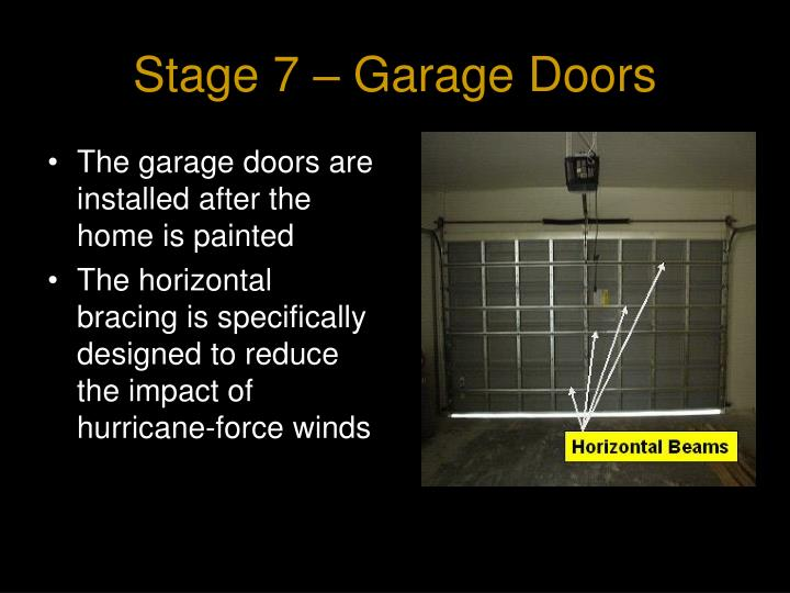 Stage 7 – Garage Doors