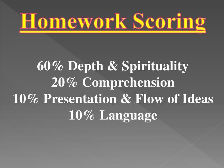 Homework Scoring