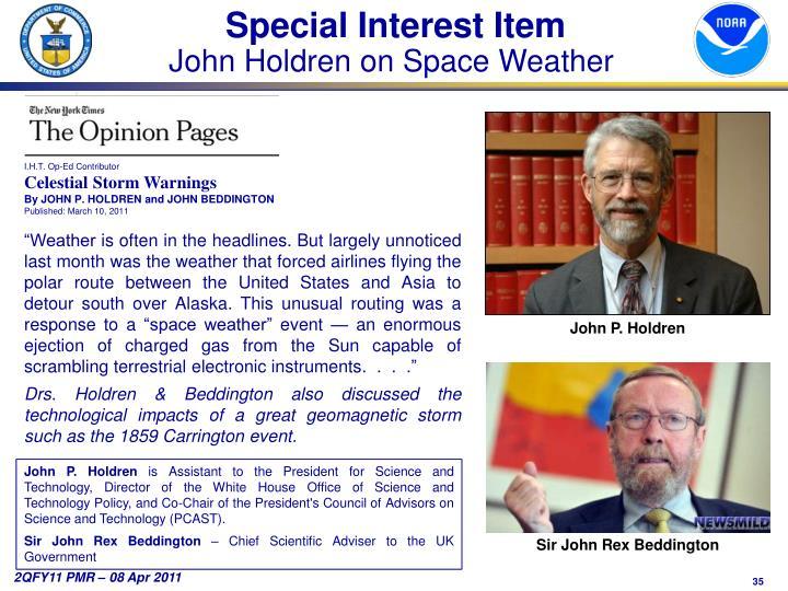 Special Interest Item