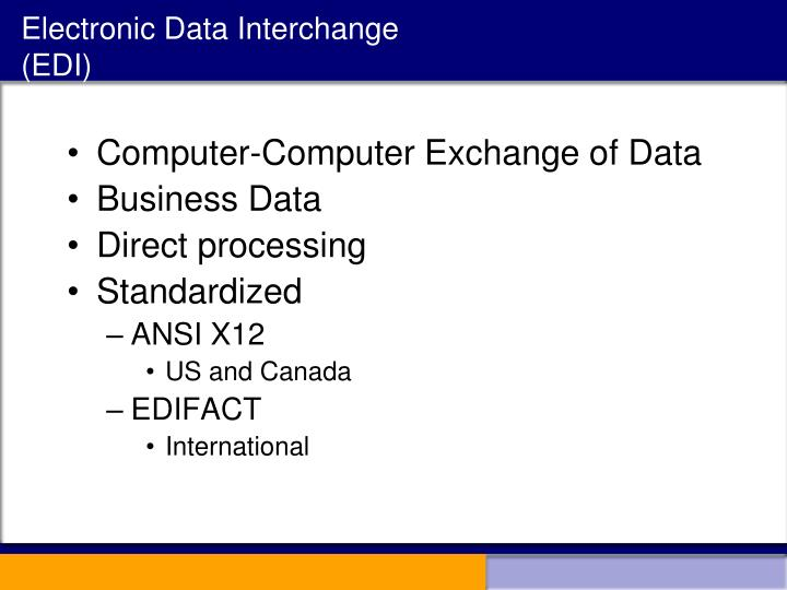 Electronic Data Exchange : Ppt acg powerpoint presentation id
