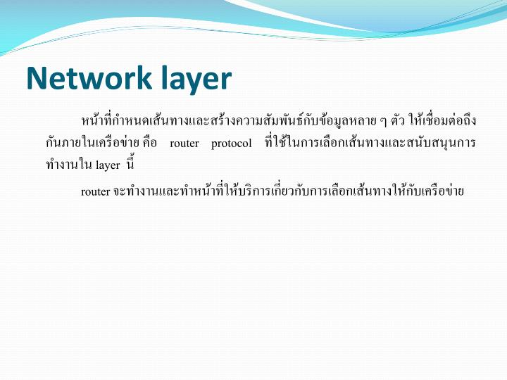 Network layer2