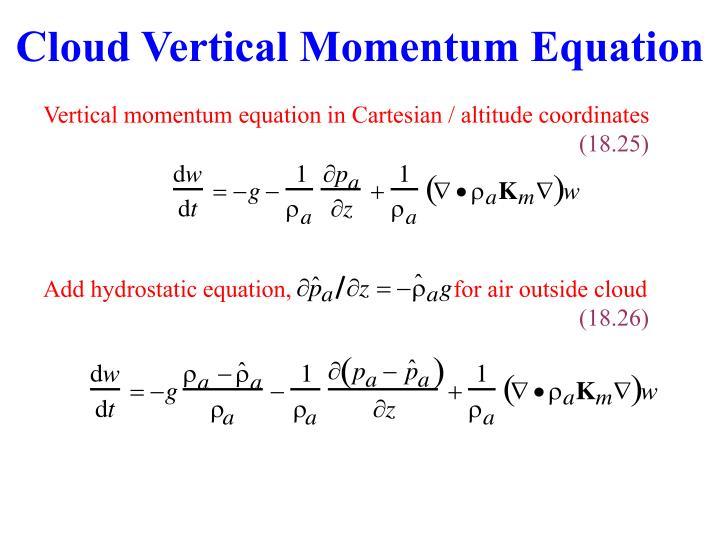 Cloud Vertical Momentum Equation