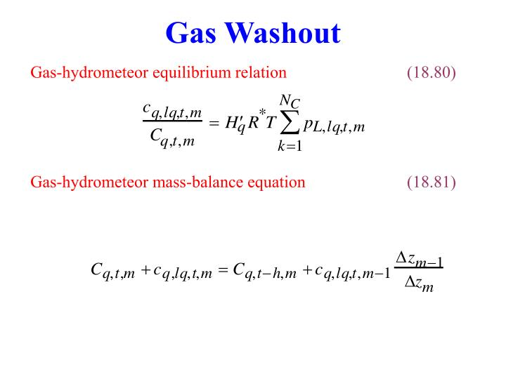 Gas Washout