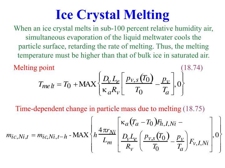 Ice Crystal Melting