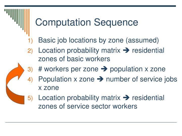 Computation Sequence