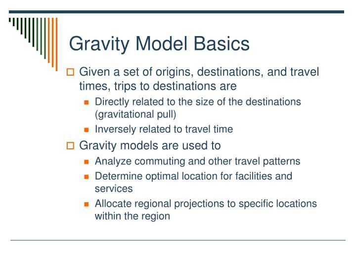 Gravity Model Basics