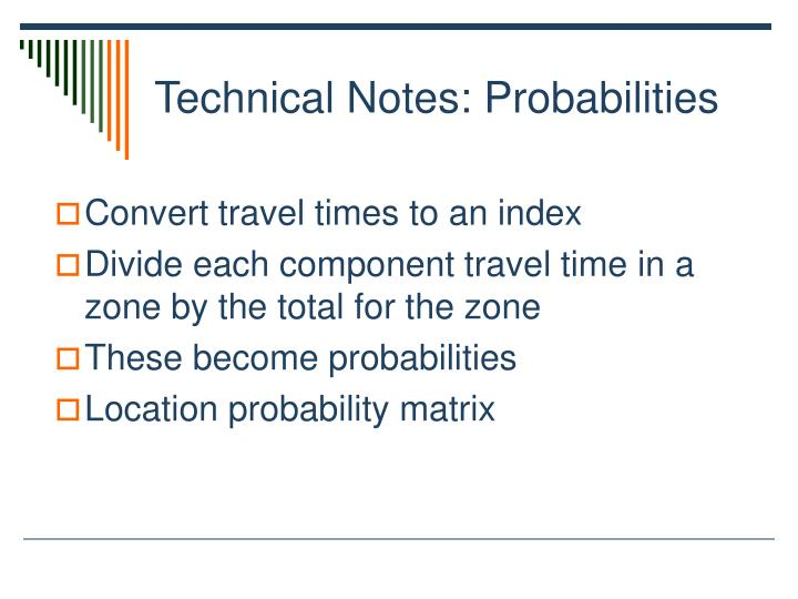 Technical Notes: Probabilities