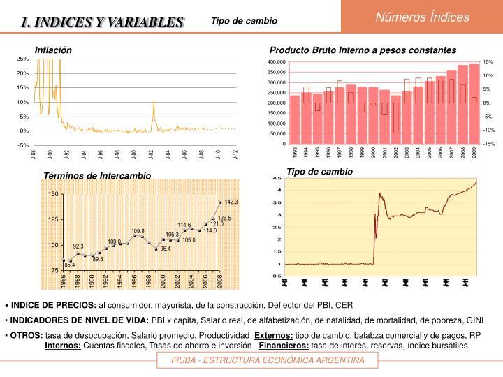 Producto Bruto Interno a pesos constantes