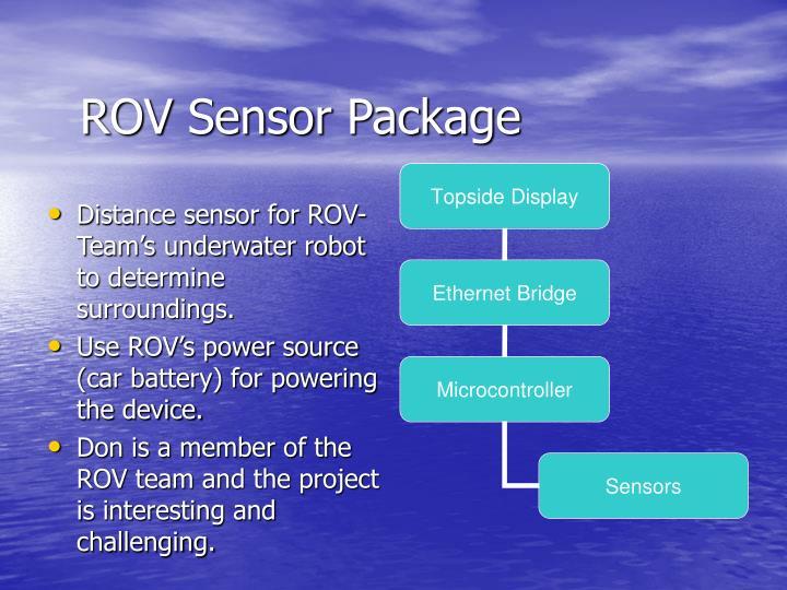 ROV Sensor Package