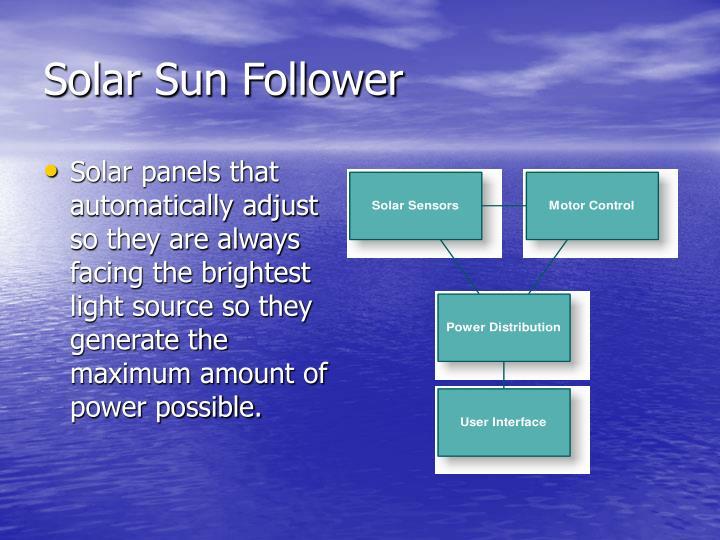 Solar Sun Follower