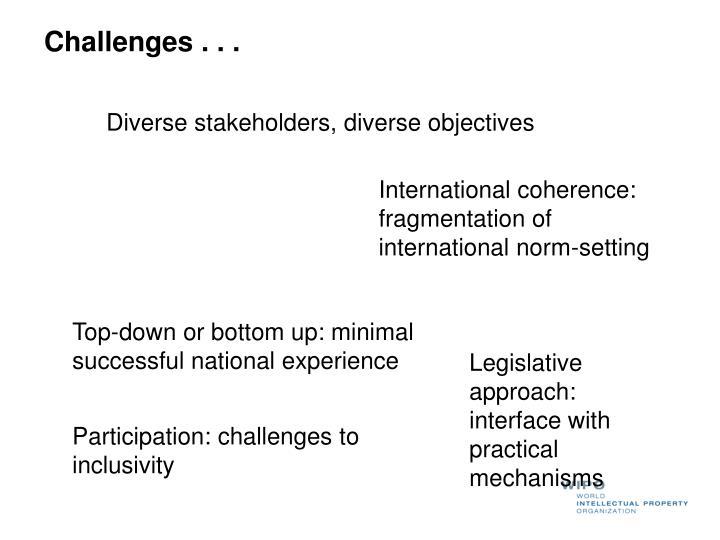 Challenges . . .