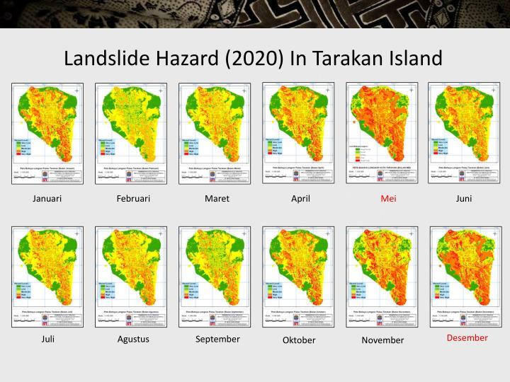 Landslide Hazard (2020) In Tarakan Island
