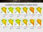 landslide hazard 2020 in tarakan island