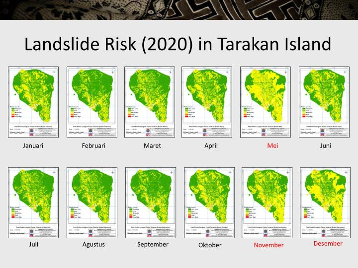 Landslide Risk (2020) in Tarakan Island