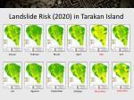 landslide risk 2020 in tarakan island