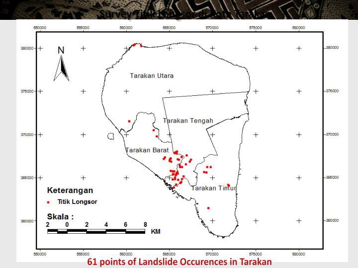 Survey Titik Longsor di Kota Tarakan