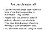 are people rational
