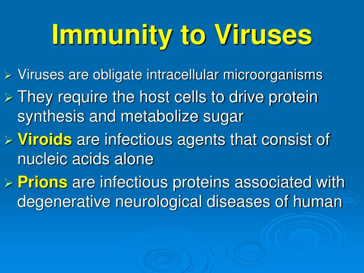Immunity to Viruses