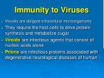 immunity to viruses