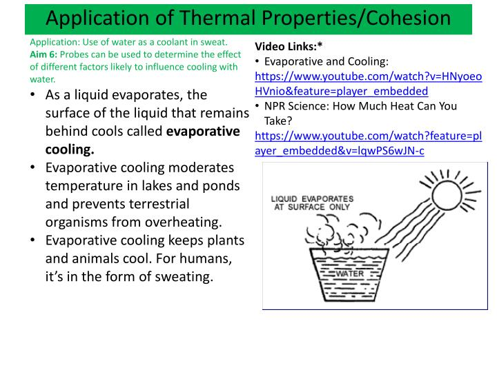 Application of Thermal Properties/Cohesion