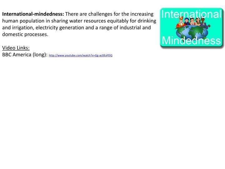 International-mindedness: