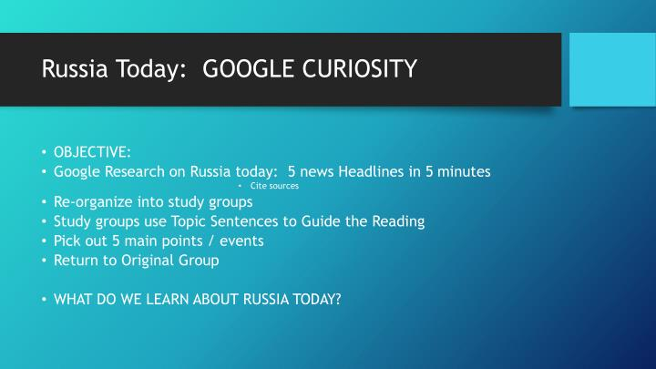 Russia Today:  GOOGLE CURIOSITY