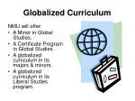 globalized curriculum