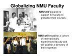 globalizing nmu faculty