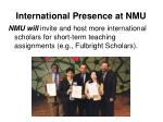 international presence at nmu