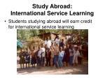 study abroad international service learning