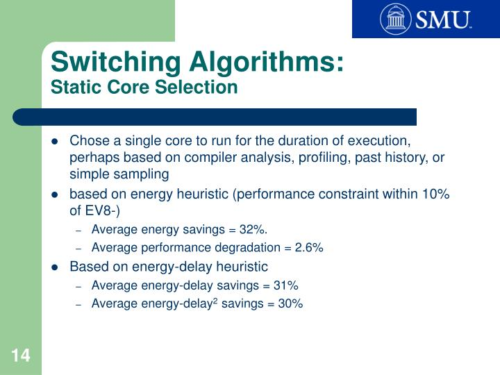 Switching Algorithms: