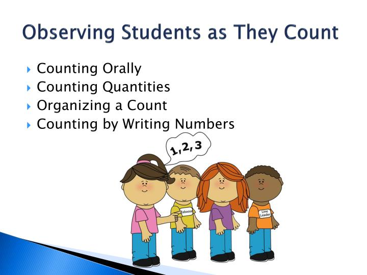 Observing Students as They Count
