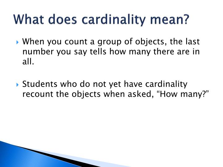What does cardinality mean?