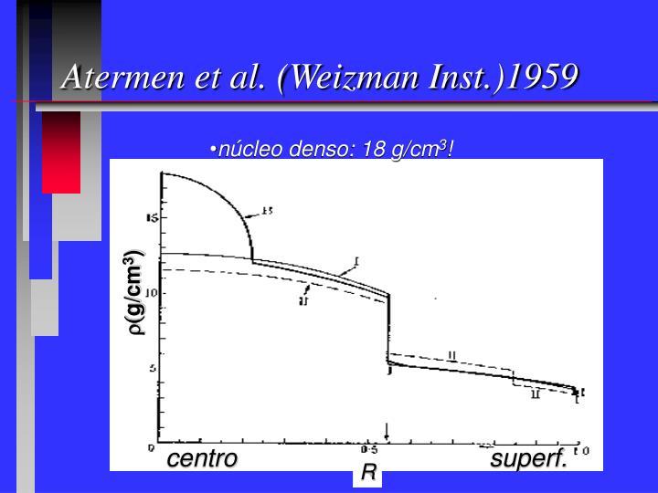 Atermen et al. (Weizman Inst.)1959