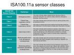 isa100 11a sensor classes