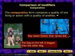 comparison of modifiers comparative