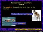 comparison of modifiers positive