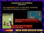 comparison of modifiers superlative