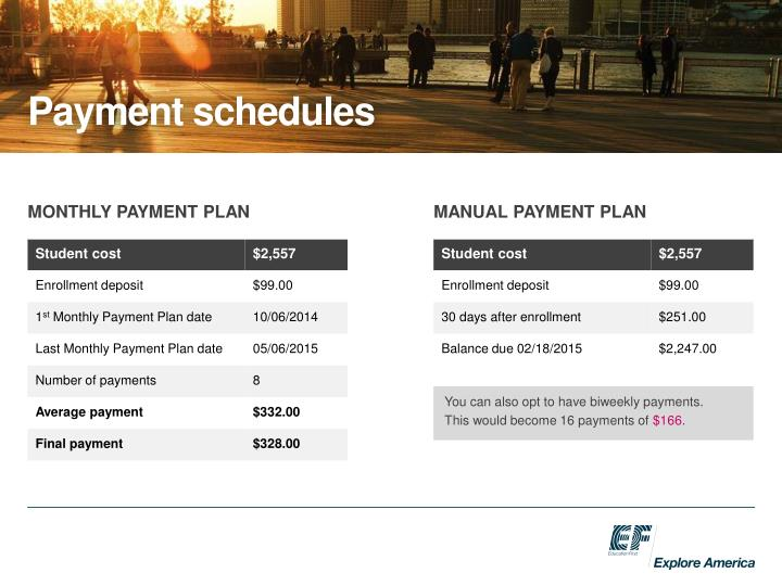 Payment schedules
