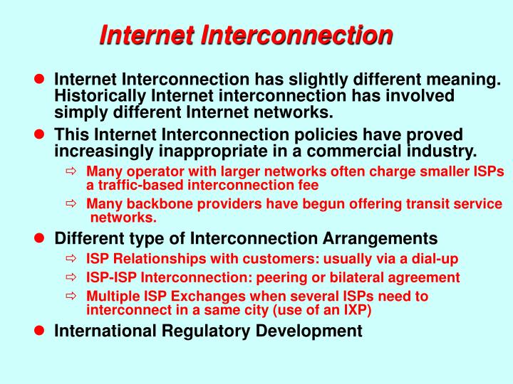 Internet Interconnection