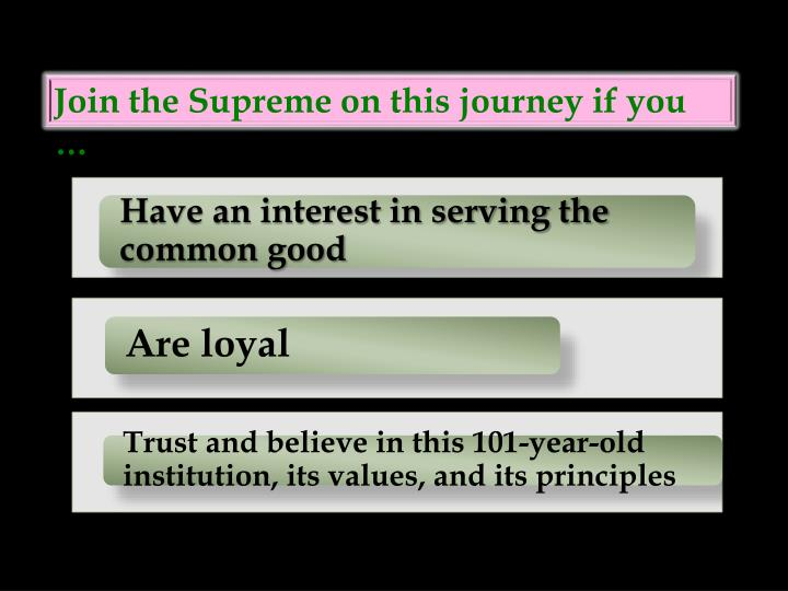 Join the Supreme on this journey if you …