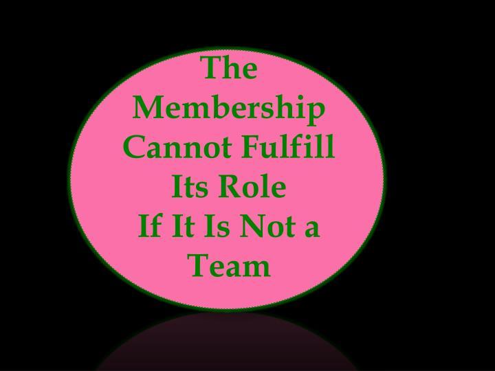 The Membership Cannot Fulfill