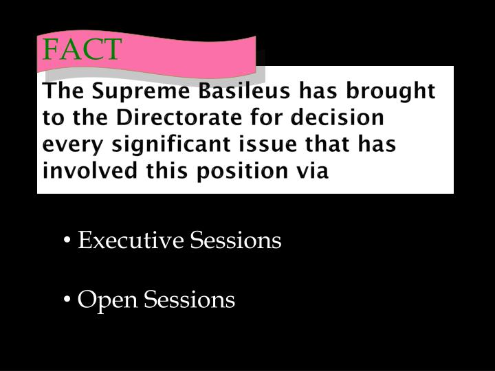 The Supreme Basileus has brought to the Directorate for decision