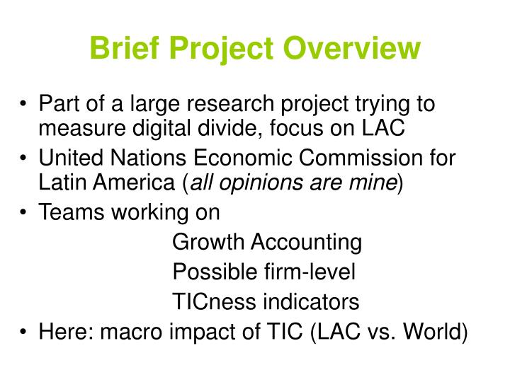 Brief Project Overview