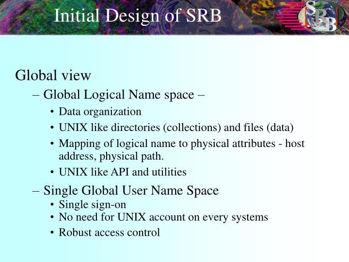 Initial Design of SRB