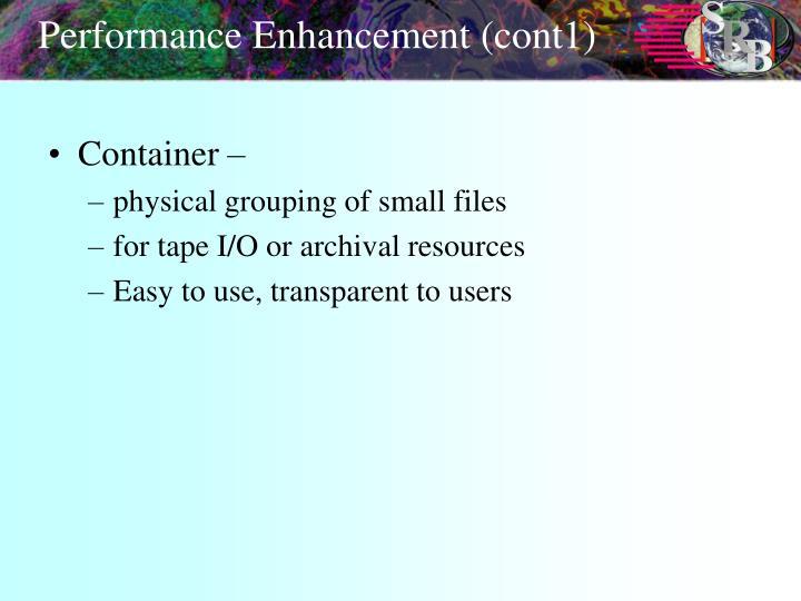 Performance Enhancement (cont1)