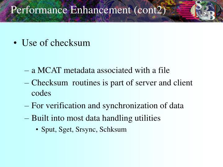 Performance Enhancement (cont2)
