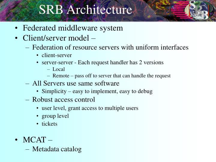 SRB Architecture